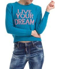 maglione maglia donna girocollo live your dream