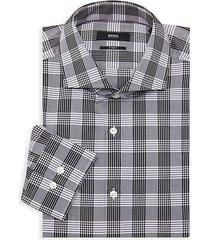 jason slim-fit plaid dress shirt