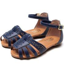 sandália addan menina azul