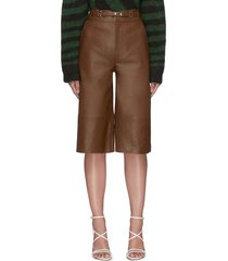 'bocca' leather culotte shorts