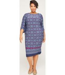 mosaic shift dress