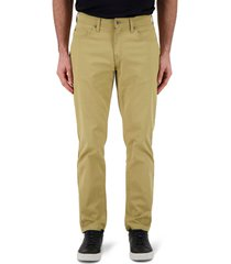 men's devil-dog dungarees athletic fit performance stretch twill pants, size 30 x 32 - brown