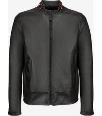 café racer biker jacket black 56