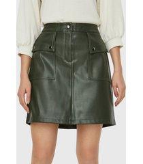 falda vero moda verde - calce regular