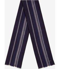 striped scarf black 1