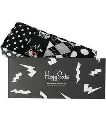 strumpor black & white socks gift set 4-pack