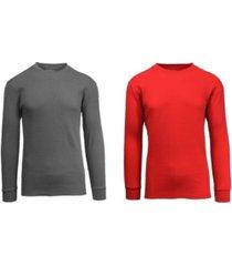 galaxy by harvic men's waffle knit thermal shirt, pack of 2