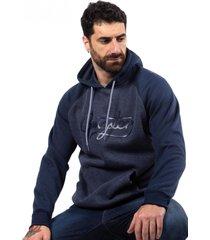 hoodie canguro cord azul gangster