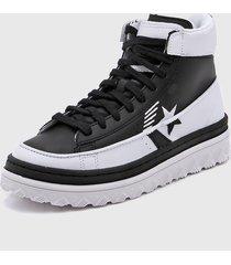 zapatilla negra converse pro leather  x2 hi