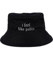 chapéu bucket skull clothing i feel like pablo - unissex