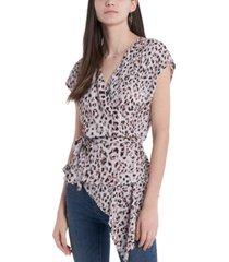 vince camuto asymmetrical peplum blouse