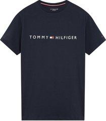 tommy hilfiger heren t-shirt - donkerblauw/logo
