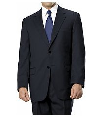 signature gold collection traditional fit wool men's suit with pleated front pants - big & tall by jos. a. bank