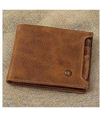 leather wallet, 'cinnamon style' (mexico)