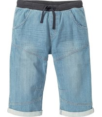 bermuda lungo in jeans loose fit (blu) - rainbow