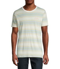 banks journal men's gallon deluxe striped t-shirt - off white - size m