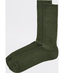river island mens khaki ribbed socks