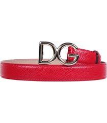 dolce & gabbana dolce & gabbana logo buckle belt