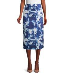 lea & viola women's tie-dye skirt - blue tie dye - size s