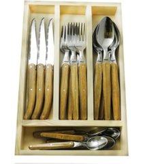 jean dubost everyday laguiole 24 piece flatware set