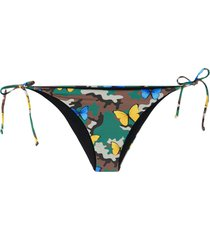 mc2 saint barth virgo butterfly-print bikini bottoms - brown