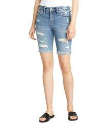 silver jeans co. suki ripped bermuda shorts