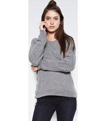 bryce pullover - l heather grey