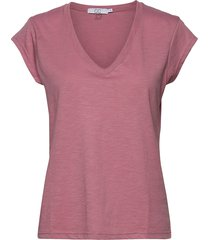 basic tee w. v-neck t-shirts & tops short-sleeved rosa coster copenhagen