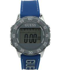 reloj azul-gris guess