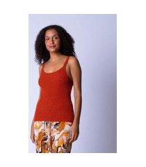 regata básica tricot feminina