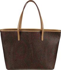 paisley book shopper bag