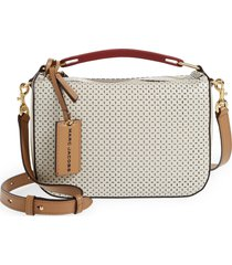 marc jacobs the box leather crossbody bag - white