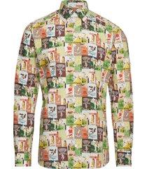 tennis print multicoloured shirt overhemd business multi/patroon eton