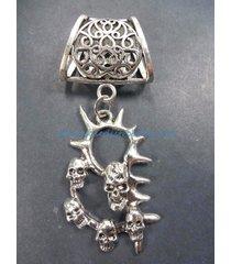 us seller-death skulls slider pendant scarf slides and pendants