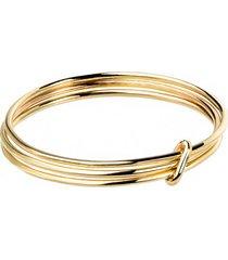 pierścionek złoty 3 elementy good karma