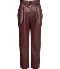 aria trousers leather leggings/broek bruin twist & tango