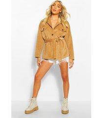 cord utility jacket, camel