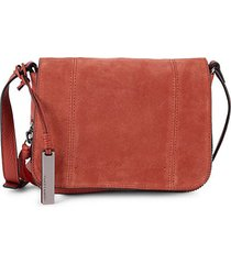leather & suede crossbody bag