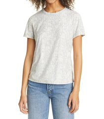 rails asher t-shirt, size x-small in ivory snakeskin at nordstrom