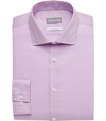 michael kors lilac slim fit dress shirt