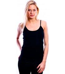 rj bodywear ladies top ( adjustable ) black