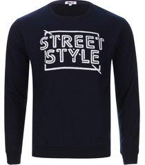 buzo street style color azul, talla s