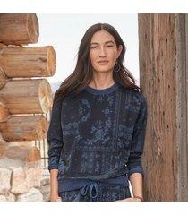 sundance catalog women's josanna sweatshirt in bndanaprnt 2xl