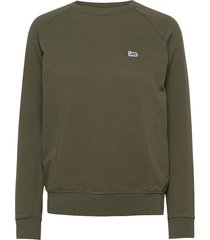 plain crew neck sws sweat-shirt trui groen lee jeans
