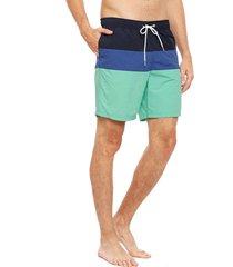 traje de baño nautica multicolor - calce regular