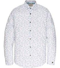 long sleeve shirt print on stretch bright white