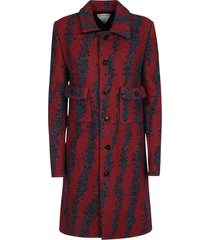 trench compact bubble boucle coat