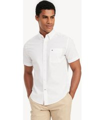 tommy hilfiger men's classic fit essential short-sleeve solid shirt bright white - xxxl