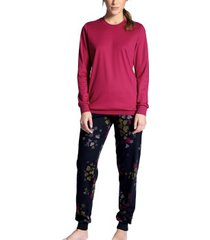calida midnight flowers pyjama with cuff