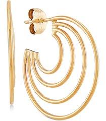 graduated hoop earrings in 10k gold